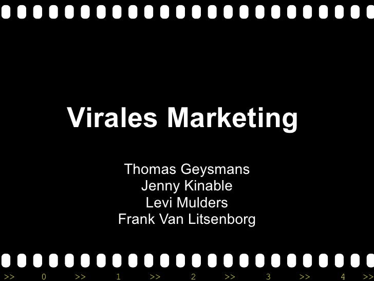 Virales Marketing  Thomas Geysmans Jenny Kinable Levi Mulders Frank Van Litsenborg