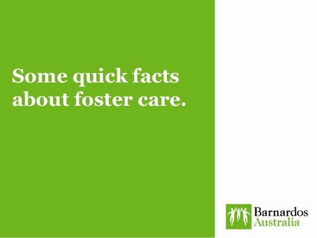 Some quick facts about foster care.