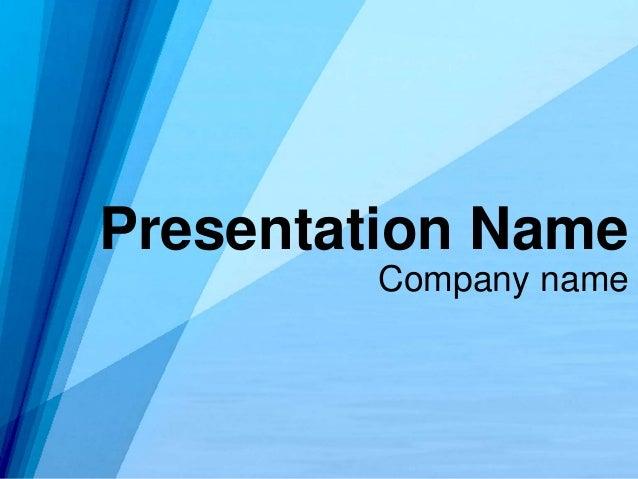 Company name Presentation Name