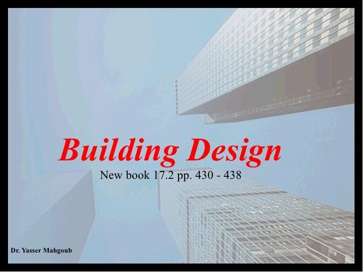 Building Design New book 17.2 pp. 430 - 438
