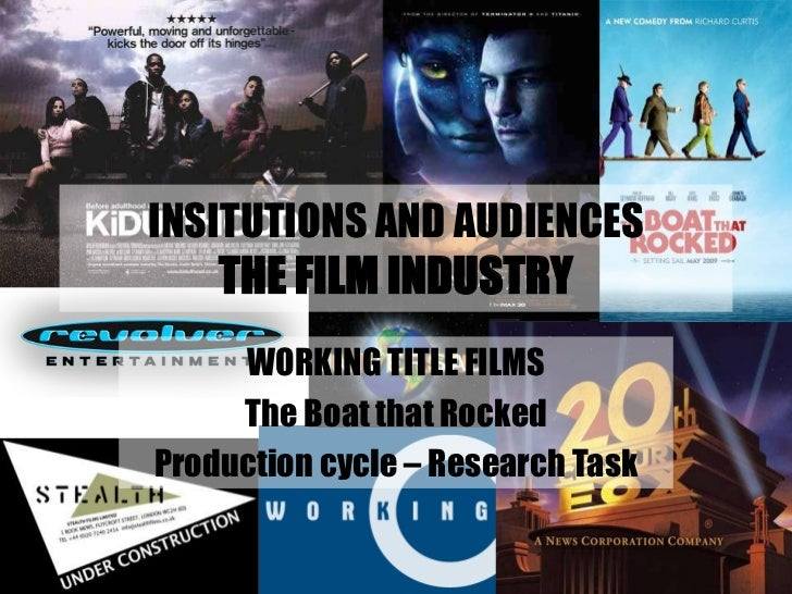 INSITUTIONS AND AUDIENCESTHE FILM INDUSTRY<br />WORKING TITLE FILMS<br />The Boat that Rocked<br />Production cycle – Rese...