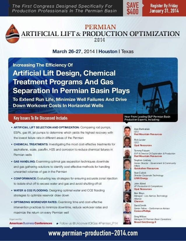 Permian Artificial Lift & Production Optimization Congress 2014