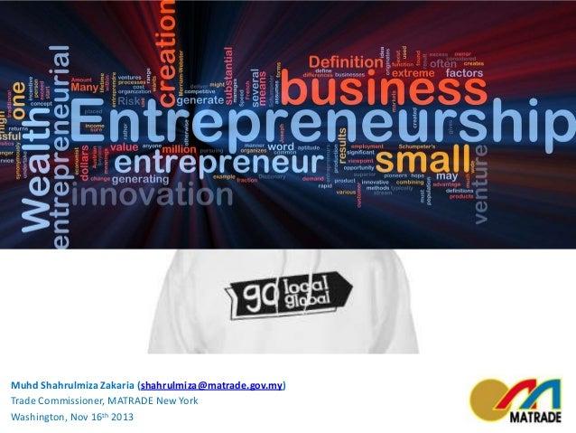 Entrepreneurship - Go Local, Go Global