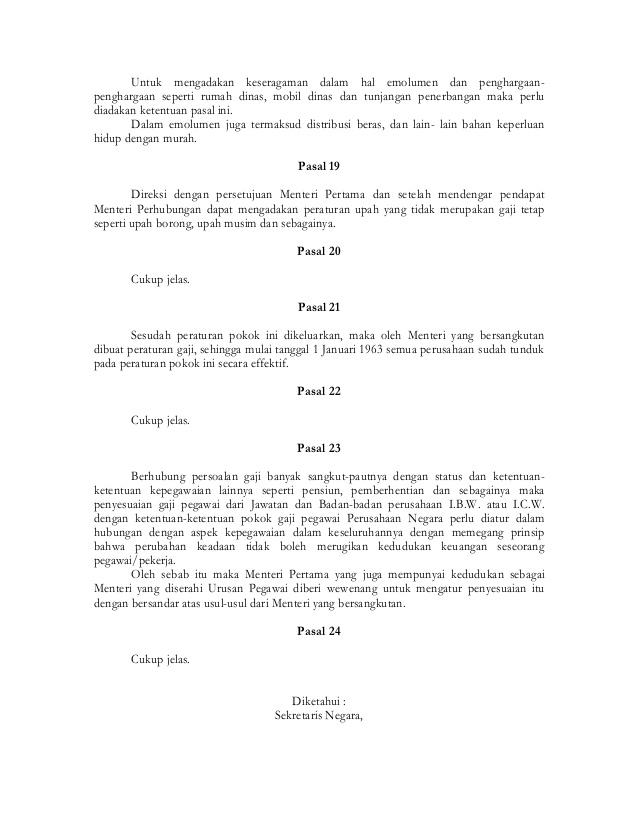 Pp 1962 14_ketentuan-ketentuan pokok gaji pegawai perusahaan negara