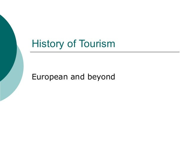 History of tourism - European and beyond