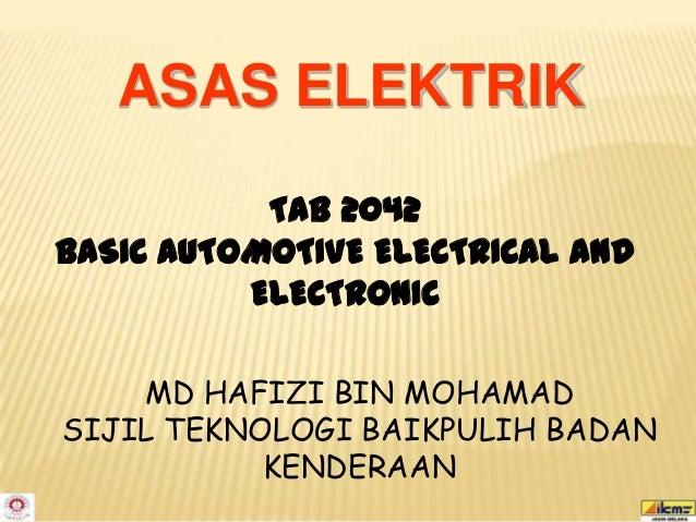 Asas Elektrik