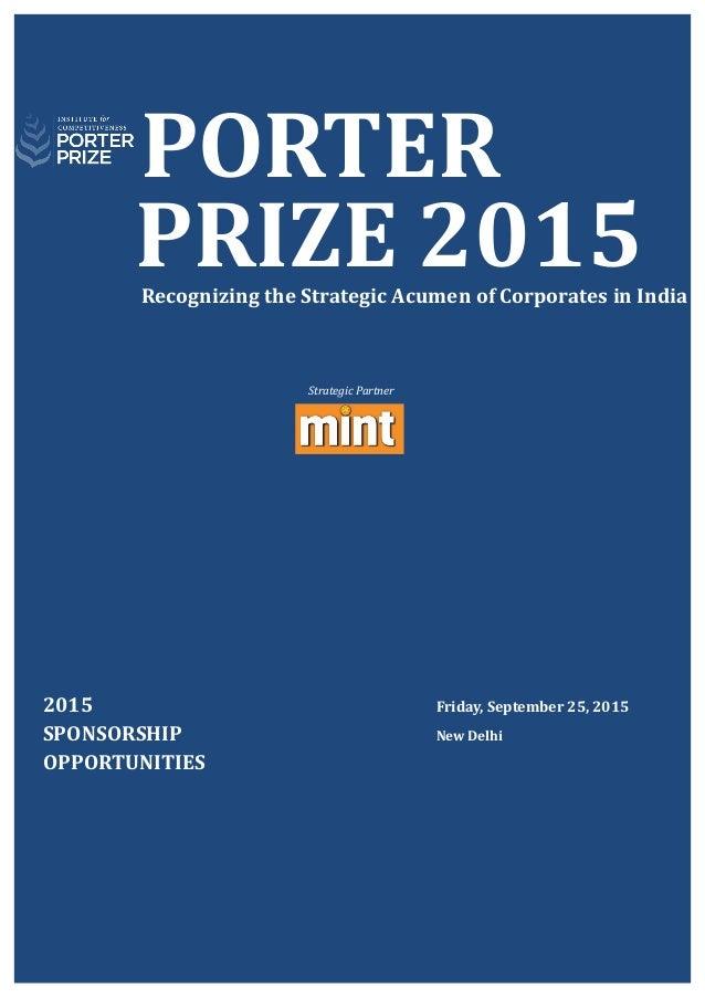 Porter Prize Booklet