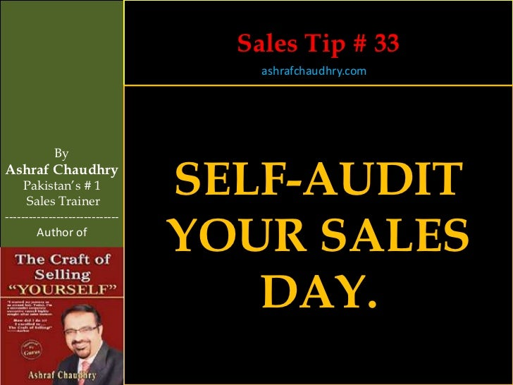 Sales Tip # 33                                    ashrafchaudhry.com            ByAshraf Chaudhry     Pakistan's # 1     S...