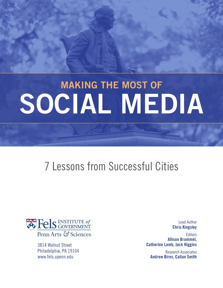 Making the Most of Social Media: 7 Lessons from Successful Cities