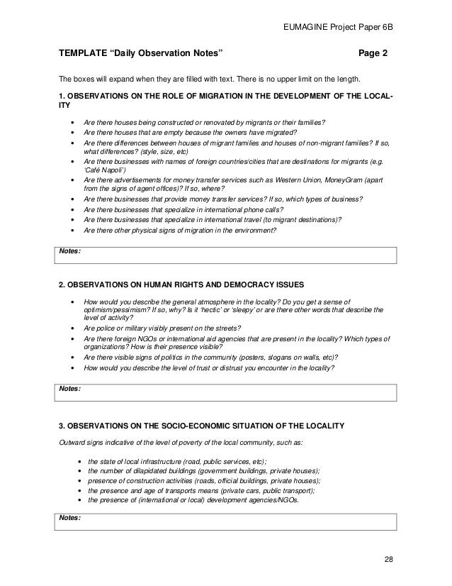 Observation field notes template 5834096 - hitori49.info