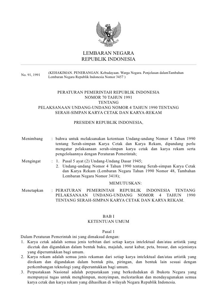 LEMBARAN NEGARA                                 REPUBLIK INDONESIA               (KEHAKIMAN. PENERANGAN. Kebudayaan. Warga...