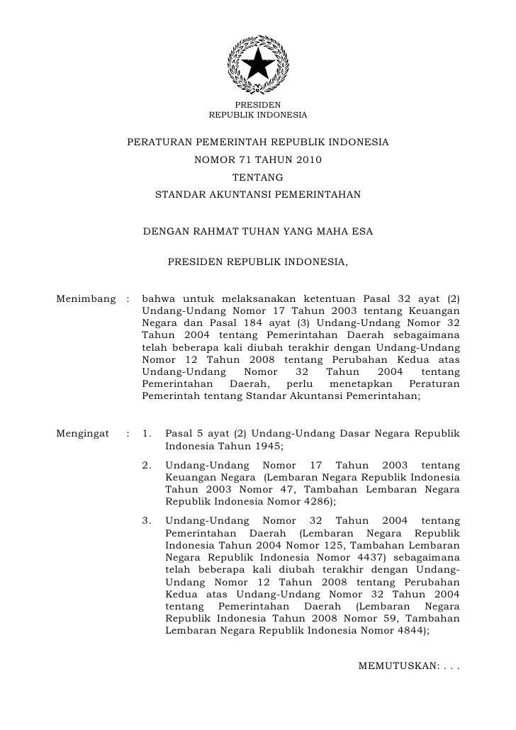 PRESIDEN                             REPUBLIK INDONESIA            PERATURAN PEMERINTAH REPUBLIK INDONESIA                ...