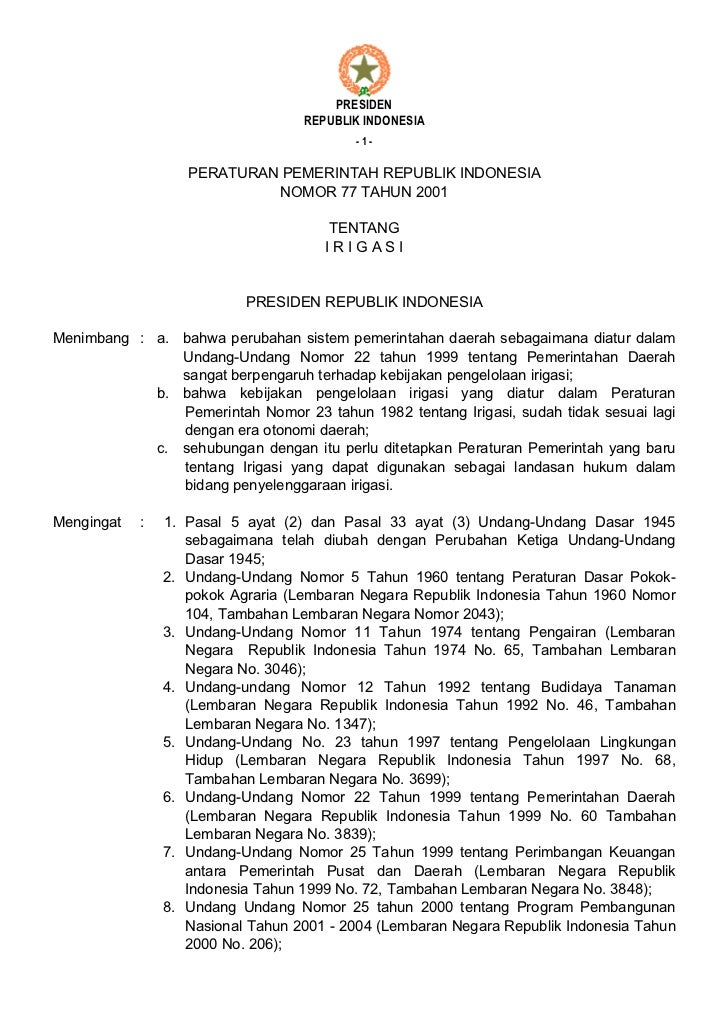 PRESIDEN                                   REPUBLIK INDONESIA                                          -1-                ...