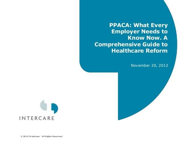 Intecare PPACA Webinar 11/20/12