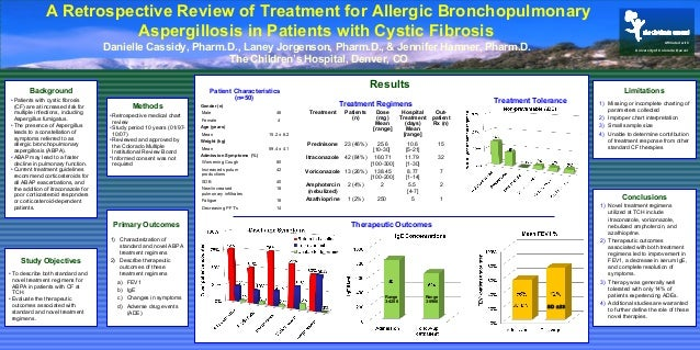 Poster Presentation: Retrospective chart review of treatment for acute bronchopulmonary aspergillosis in patients with cystic fibrosis