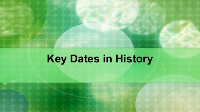 Key Dates in History