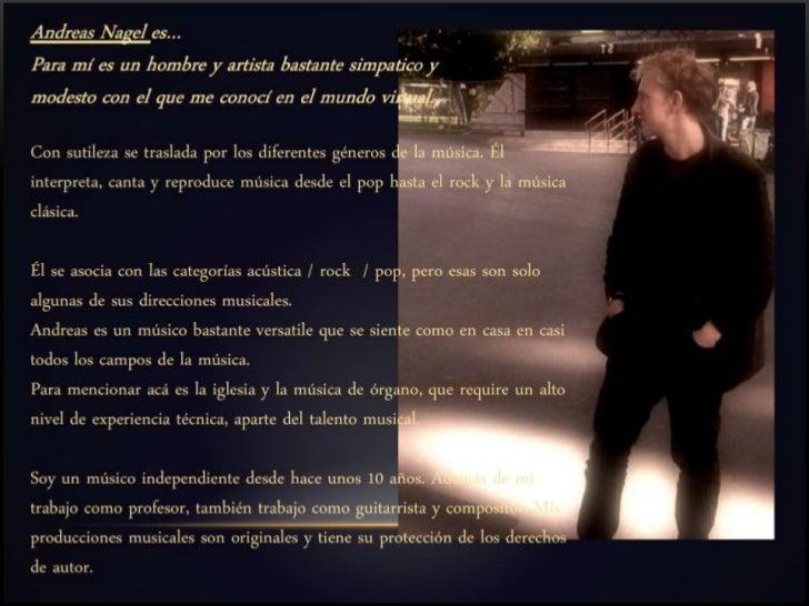 """BY ANDREAS NAGELS: Proyecto """"Promesa"""" - Baladas emocionales con Groove y Soul  Canciones presentadas en vivo del CD """"Promi..."""