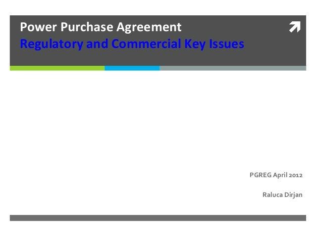 Power Purchase Agreement Workshop