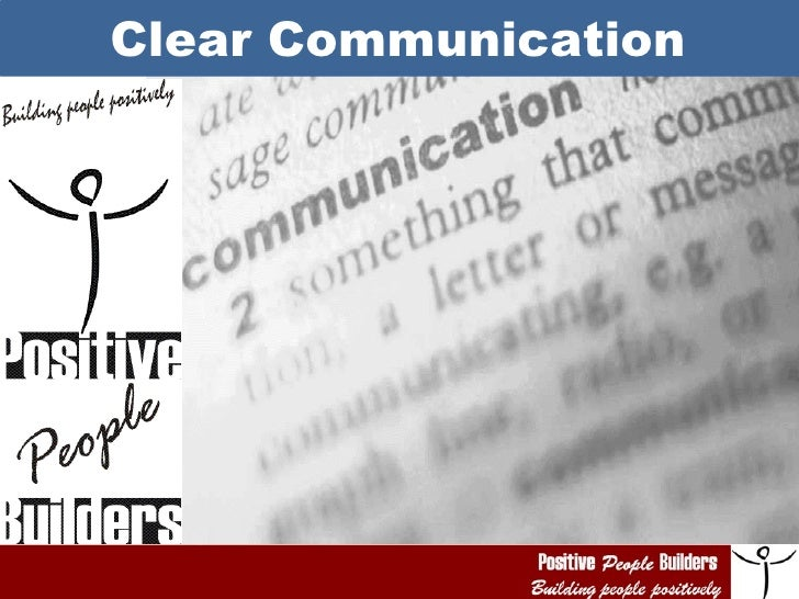 Ppb    clear communication day 2