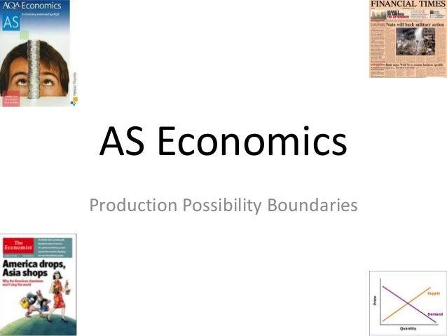 AS Economics Production Possibility Boundaries
