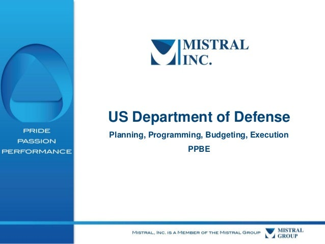 US Department of Defense Planning, Programming, Budgeting, Execution PPBE