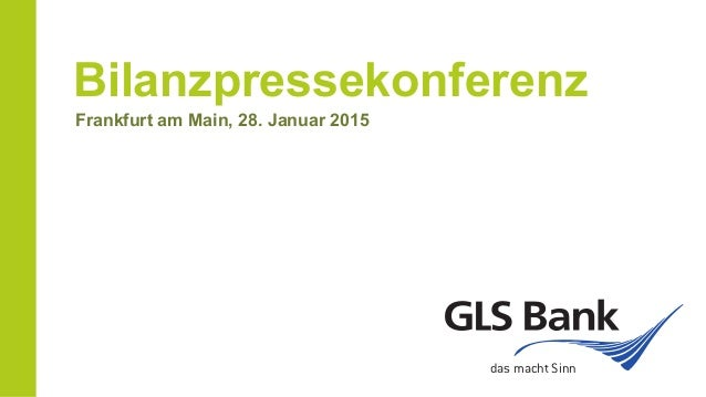 Bilanzpressekonferenz Frankfurt am Main, 28. Januar 2015 das macht Sinn