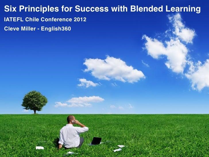 Pedagogic principles of blended language learning