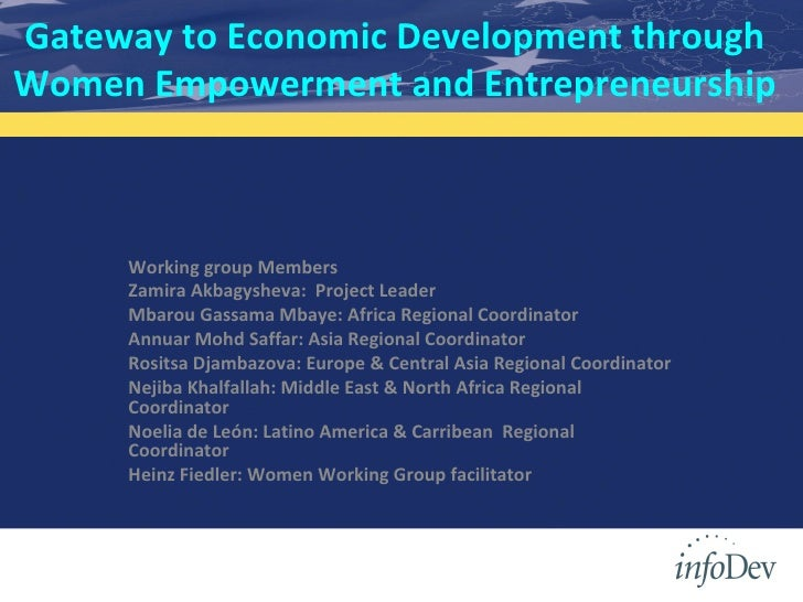 Gateway to Economic Development through Women Empowerment and Entrepreneurship Working group Members Zamira Akbagysheva:  ...