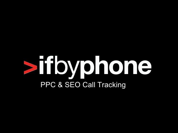 PPC & SEO Call Tracking