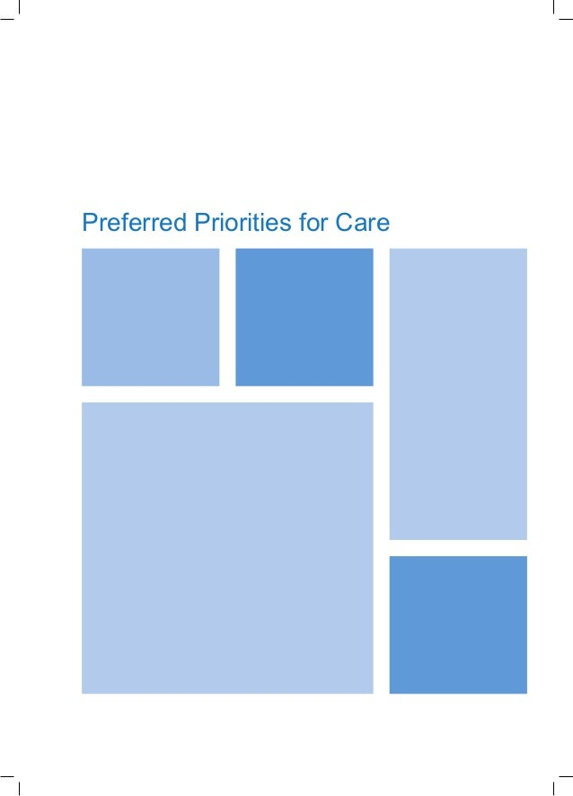 Preferred Priorities for Care