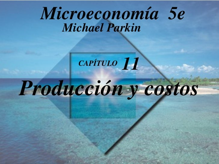 CAPÍTULO  11 Producción y costos Michael Parkin Microeconomía  5e