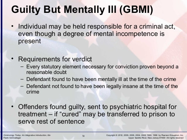 Guilty Mental Illness Guilty But Mentally Ill Gbmi