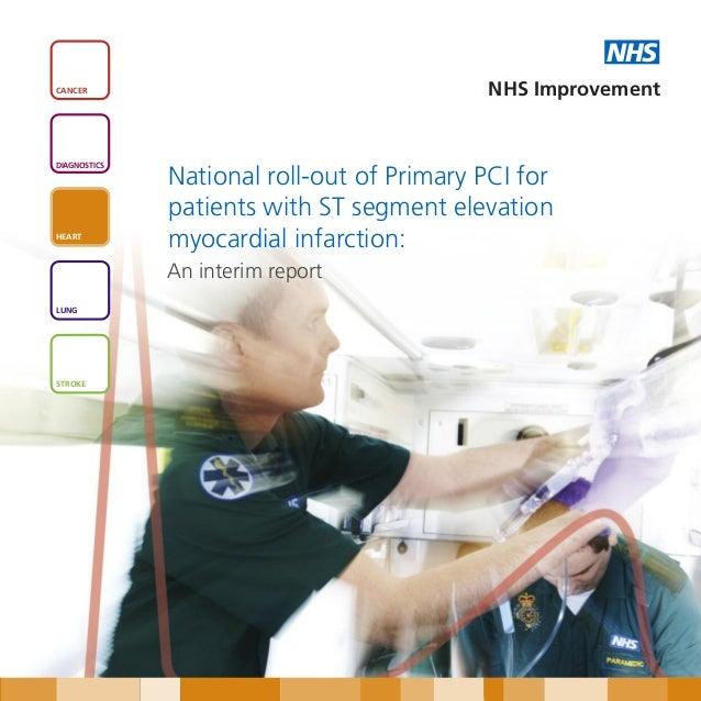 NHSCANCER                                     NHS ImprovementDIAGNOSTICS              National roll-out of Primary PCI for...