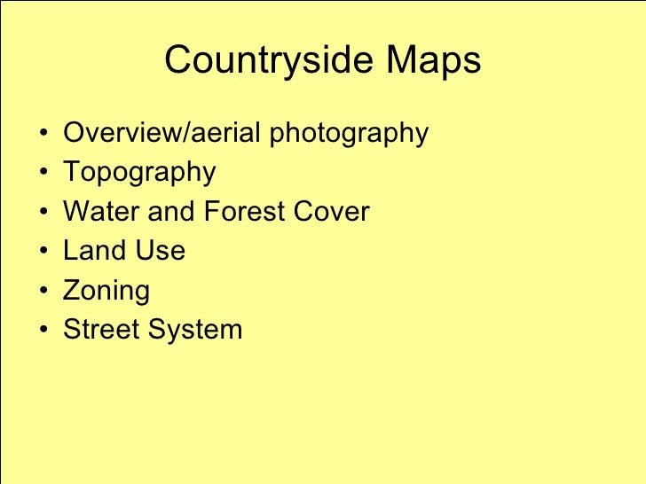 Countryside Planning Maps