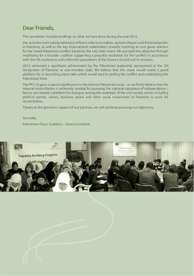 Geneva Initiative PPC Annual Report