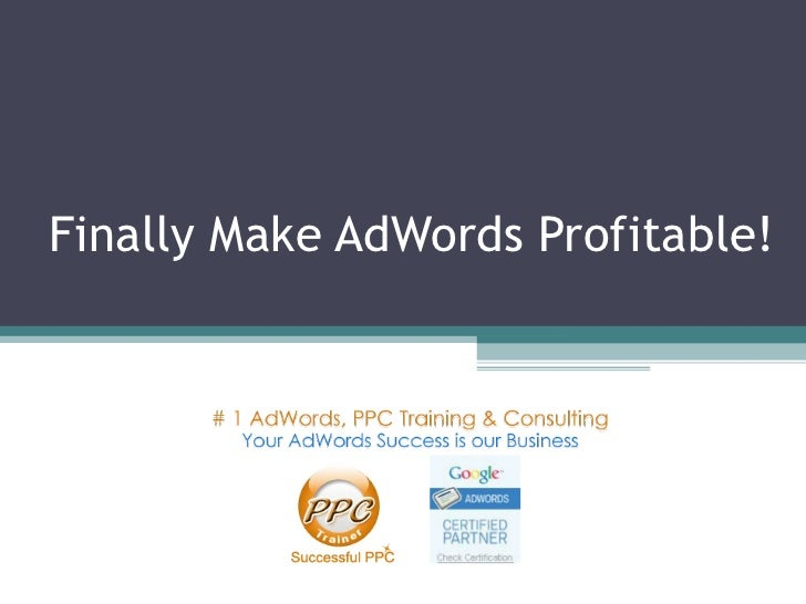 AdWords Training & AdWords Consulting