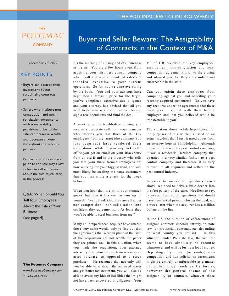 PPCW - Buyer and Seller Beware