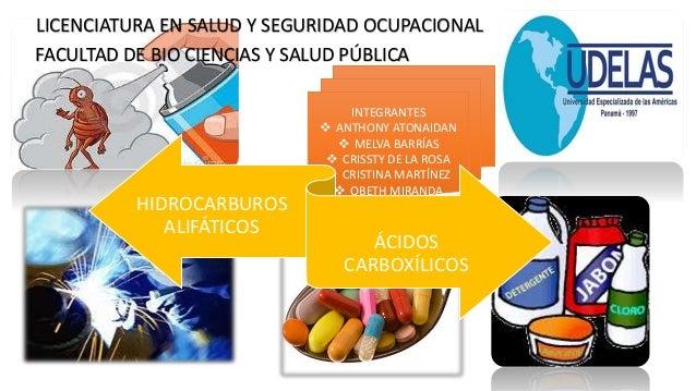 LICENCIATURA EN SALUD Y SEGURIDAD OCUPACIONAL FACULTAD DE BIO CIENCIAS Y SALUD PÚBLICA INTEGRANTES  ANTHONY ATONAIDAN  M...
