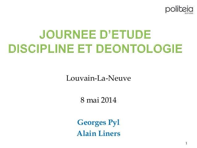 Louvain-La-Neuve 8 mai 2014 Georges Pyl Alain Liners 1