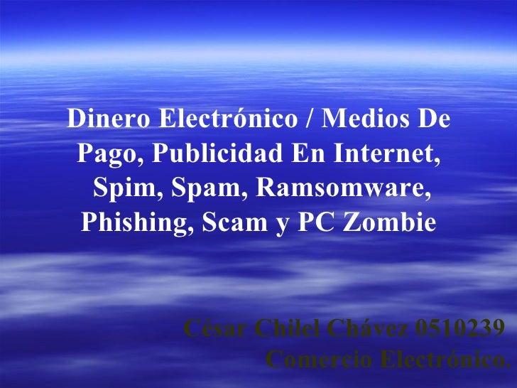 César Chilel Chávez 0510239  Comercio Electrónico. Dinero Electrónico / Medios De Pago, Publicidad En Internet, Spim, Spam...