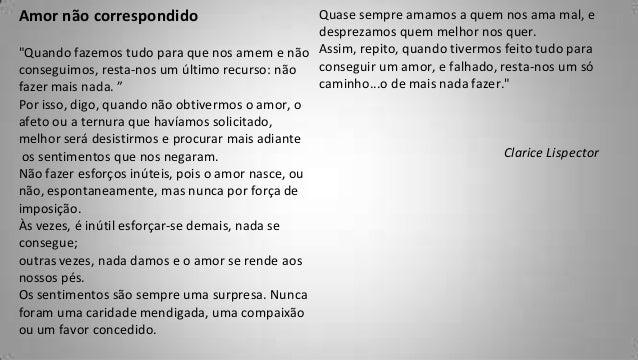 """Amor Não Correspondido Texto Amor Não Correspondido""""quando"""