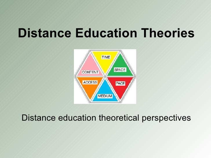 Distance Education Theories Distance education theoretical perspectives