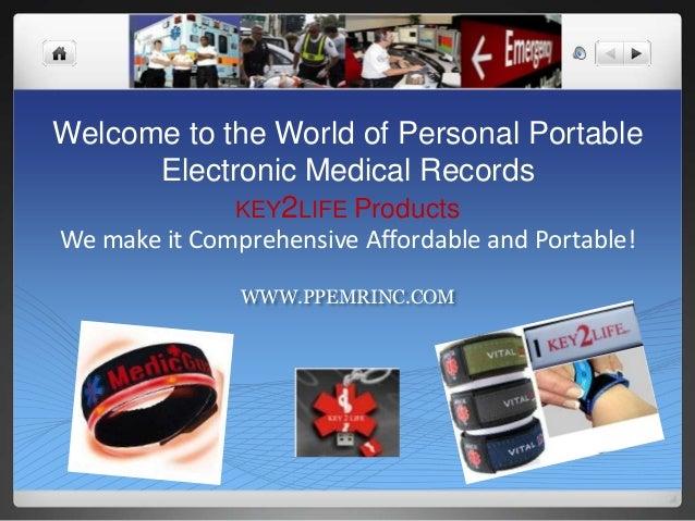 Wearable Electronic Medical Alert ID Jewelry