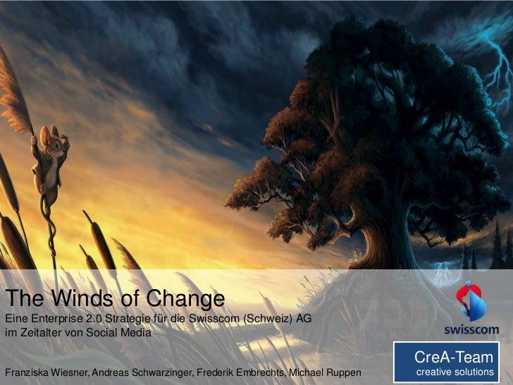 8/10/2012       S. 1The Winds of ChangeEine Enterprise 2.0 Strategie für die Swisscom (Schweiz) AGim Zeitalter von Social ...