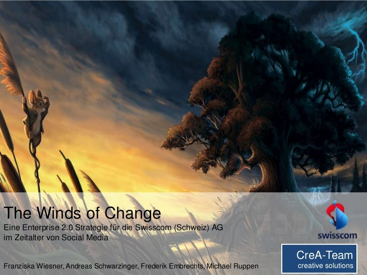 Seminar Presentation: The Winds of Change - Enterprise 2.0 Strategievorschlag für die Swisscom (University of Zurich 2012)