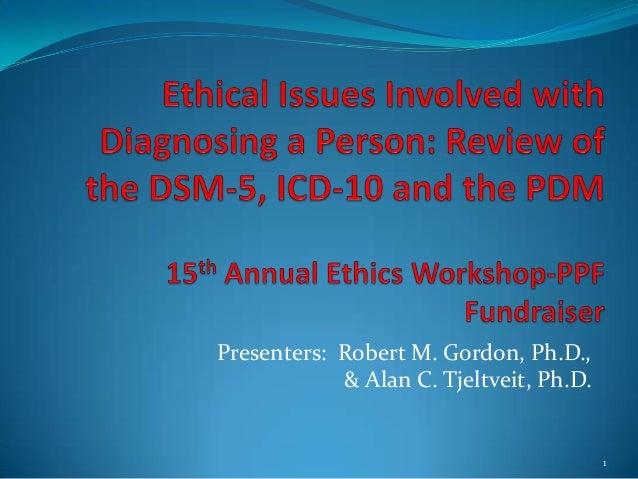 Presenters: Robert M. Gordon, Ph.D.,& Alan C. Tjeltveit, Ph.D.1