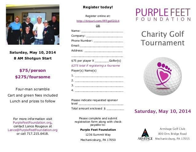Purple Feet Foundation Charity Golf Tournament 2014