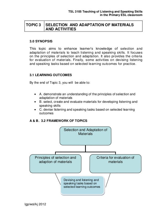 Ppg module tsl3105 topic 3 selection & adaptation