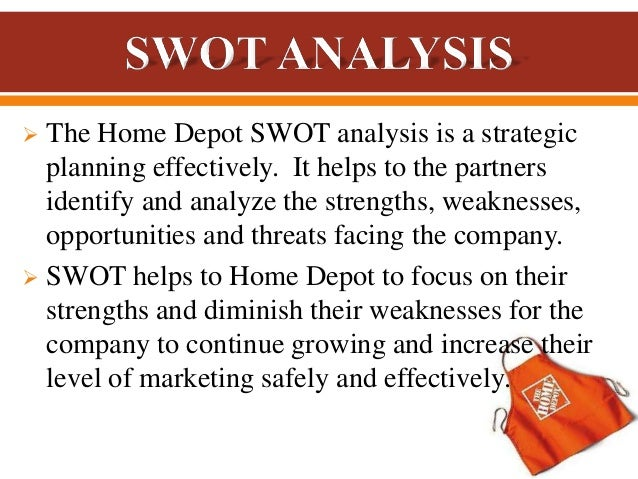 home depot external threats opportunities Swot analysis of home depot by lilcarajohnson ¶ ¶ 2 comments threats, and opportunities swot analysis is defined as the strengths, weakness.
