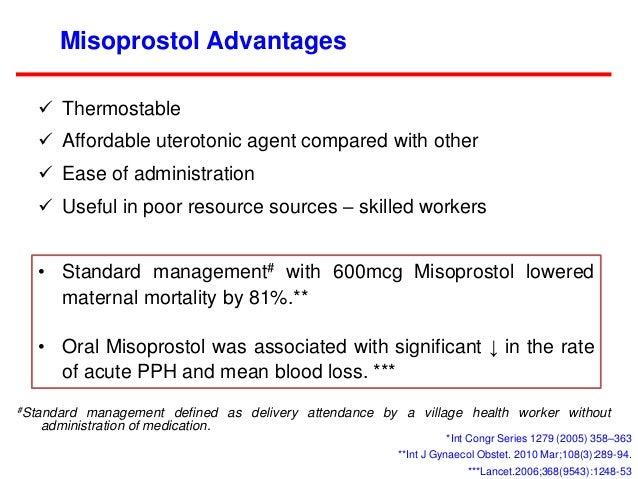 misoprostol for the management of postpartum haemorrhage